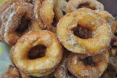 Beignet frit fait maison Photos libres de droits