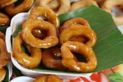 Beignet thaï de dessert Photo stock