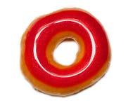 Beignet vitré de rouge photographie stock libre de droits