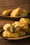 Beignets de morue de sel, bunuelos de bacalao Photo libre de droits