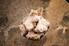 Beignets - New Orleans royalty free stock photos