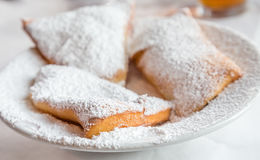 Beignets on Plate Stock Images