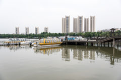 Beigu出海口小游艇船坞 免版税库存图片