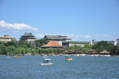 Beihai imperial garden in Beijing Stock Photo