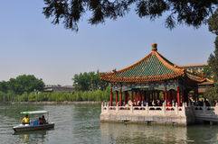 Beihai imperial garden in Beijing Stock Photos