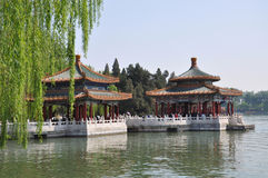 Beihai imperial garden in Beijing Royalty Free Stock Photography