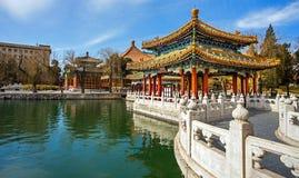 Beihai Park in Beijing China. In the Beihai Park in Beijing China Stock Photos