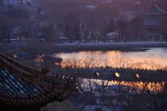 Beihai Park in Beijing scenery Stock Images