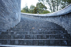Beihai Park in Beijing stairs Royalty Free Stock Images