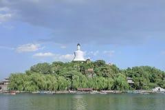 Beihai Park with famous white Stupa, Beijing, China Stock Images