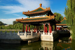 The Beihai Park Five-Dragon Pavilions. Beihai (North Sea) Park is one of the most popular parks in the city of Beijing. To the southwest of the lake lies the Royalty Free Stock Image