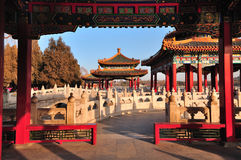 The Beihai Park Five-Dragon Pavilions. Beihai (North Sea) Park is one of the most popular parks in the city of Beijing. To the southwest of the lake lies the Royalty Free Stock Photography
