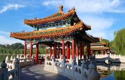 The Beihai Park Five-Dragon Pavilions,Beijing Royalty Free Stock Photos