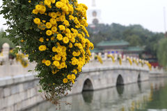 Beihai Park -- is an imperial garden in Beijing Stock Photo