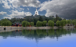 Beihai park -- jest północny zachód Niedozwolony miasto w Pekin cesarski ogród Obraz Royalty Free