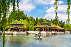 Beihai Park with the lake - Beijing Royalty Free Stock Images