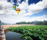 The Beihai Park near Forbidden City Beijing Royalty Free Stock Photos