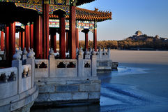 The Beihai Park  Pavilions,Beijing,China Royalty Free Stock Images