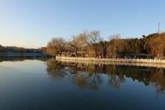Beihai-Park, Peking stockbilder