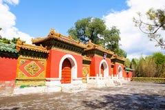 Beihai Park scene-Main gate of Buddhist paradise temple Stock Photos