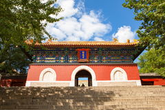 Beihai Park scene-Main gate of Buddhist paradise temple Royalty Free Stock Photography
