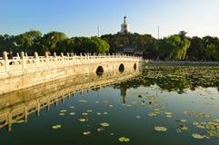The Beihai Park White pagoda Royalty Free Stock Image