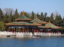 Beihai Parkowy smoka Pawilon, Pekin Obraz Royalty Free