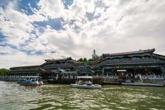 Beihei park w lecie w Pekin, Chiny zdjęcie stock