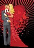 Beijando amantes Homem e mulher românticos dos pares Foto de Stock
