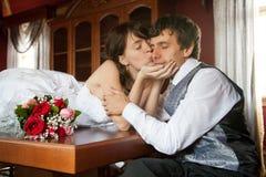 Beijando o Fotografia de Stock Royalty Free