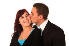 Beijando pares Imagens de Stock Royalty Free