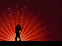 Beijando pares ilustração stock