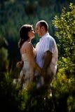 Beijando pares Fotografia de Stock Royalty Free