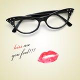 Beije-me você tolo Imagens de Stock