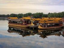 beijing łódkowaty porcelanowy chiński jeziorny pałac lato Fotografia Stock