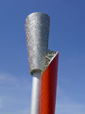 Beijing 2008 Olympic Torch under blue sky Royalty Free Stock Photo