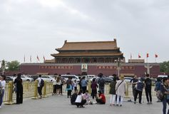 Beijing, 5th May: Tourists Visiting The Forbbiden City From Beijing In China Royalty Free Stock Photo
