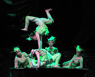 Beijing Acrobatics Troupe artists Royalty Free Stock Photo