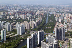 Beijing. Aerial view of densely populated residential district, Beijing, China Stock Images