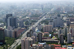 Beijing. Aerial view of densely populated residential district, Beijing, China Royalty Free Stock Images