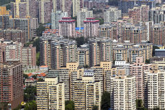 Beijing. Aerial view of densely populated residential district, Beijing, China Stock Photos
