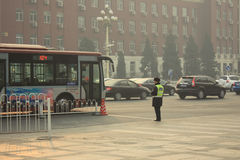 Beijing Air Pollution Royalty Free Stock Photos