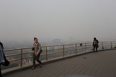 Beijing Air Pollution Stock Photo