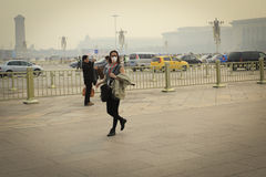 Beijing Air Pollution royalty free stock photo