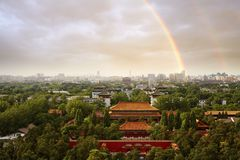 Free Beijing Ancient And Modern City In Greens, China Stock Photo - 161637100