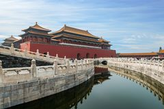 Beijing Ancient Royal Palaces Of The Forbidden City In Beijing , Stock Image