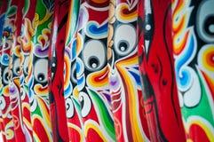 beijing ansikts- makeupopera Den kinesiska ansikts- makeupen av den Beijing operan royaltyfria bilder