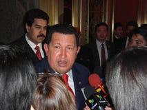 Hugo Chavez. BEIJING -APR.8: Hugo Chavez, President of Venezuela, during his working visit to China, on Apr. 8, 2009 in Beijing, China stock image
