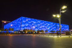 Beijing aquatic center. Beijing,China - May 9,2015 : Beijing aquatic center officially known as the National Aquatics Center and colloquially known as the Water Stock Photo