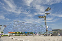 The Beijing Aquatic Centre Stock Photo